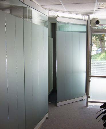 Façade ou cloison mobile vitrée
